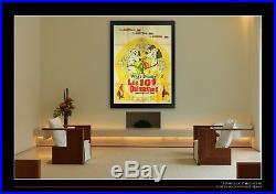 101 DALMATIANS Walt Disney 4x6 ft On Linen Vintage Grande Original Poster 1961