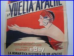 1929 Vintage, Original Poster.' Return Of The Rat!''. Rare. Isabel Jeans. #1