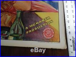 1933 KISS OF ARABY One Sheet Movie Poster Monarch Arab Adventure Vintage VG
