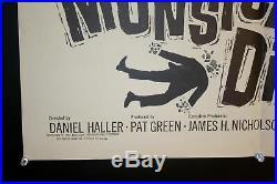 1965 Die Monster Die! One Sheet USA Movie Poster Vintage Original