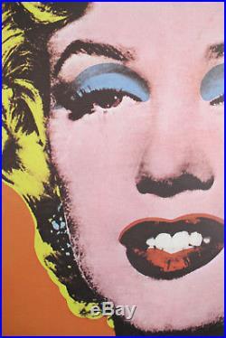 1968 MARILYN MONROE by ANDY WARHOL, GERMAN VINTAGE POSTER, ORANGE POP ART