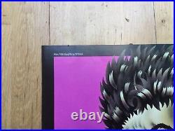 1969 Alan Aldridge Dont Look Back Bob Dylan Signed Poster Rare Film Hapshash
