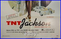1974 T. N. T. Jackson Blaxploitation One Sheet Original Movie Poster Vintage