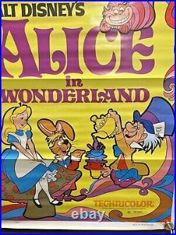 1974 Walt Disney's Alice in Wonderland 1-sheet Movie Poster Vintage Original VG+