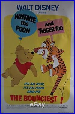 1974 Walt Disney's Winnie the Pooh and Tigger Too Original Vintage Movie Poster