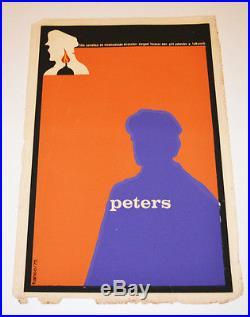 1975 Cuban Original Silkscreen Movie Poster. Peters. Soviet film. Serguei Tarasov