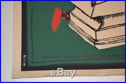 1976 Cuban Original Silkscreen Movie Poster. Delta Alarm. Romanian. Art Robbery