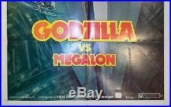 1976 Godzilla vs Megalon One Sheet Original Movie Poster Vintage