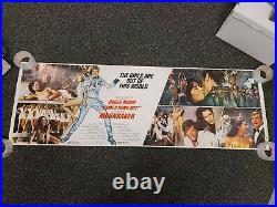 1979 JAMES BOND MOONRAKER POSTERS LOT (60X20) 007 Girls & Villains Vintage USED