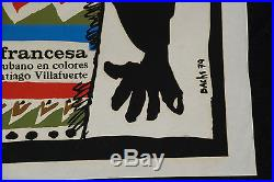 1979 Original Cuban movie PosterFrench Tomb African. Colorful drum. Tambor art