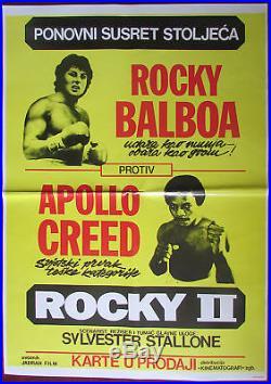 1979 Original Vintage Movie Poster Rocky II Apollo Creed Sylvester Stallone YU