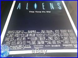 1986 ALIENS vintage ORIGINAL MOVIE POSTER ROLLED 27 x 41 MINT