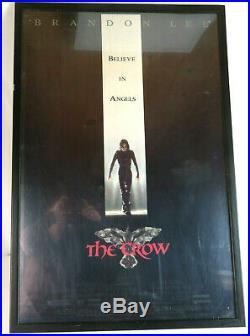 1994 The Crow Framed Movie Theater Poster VTG Brandon Lee 90's Original