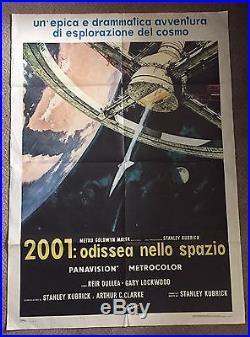 2001 A Space odyssey Vintage Film Poster Italian, Kubrick
