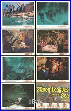 20,000 LEAGUES UNDER THE SEA original lobby card set DISNEY 11x14 movie posters