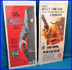 Chisum John Wayne cult western movie poster print