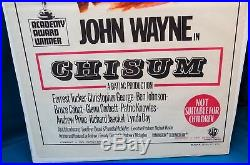 3 Vintage John Wayne Movie Posters, Chisum/Cahill/McQ