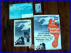 4 Vintage surfing surf movie poster surfboard bruce brown set surfer 1960s lot