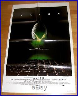 ALIEN (1979) Ridley Scott HR Giger Rare Original Vintage US One Sheet 1Sh Poster