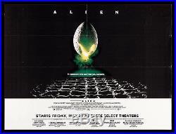 ALIEN CineMasterpieces RARE SUBWAY VINTAGE SCI FI ORIGINAL MOVIE POSTER 1979