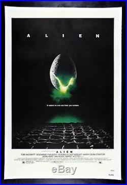 ALIEN CineMasterpieces VINTAGE MOVIE POSTER LINEN BACKED SPACE HORROR 1979