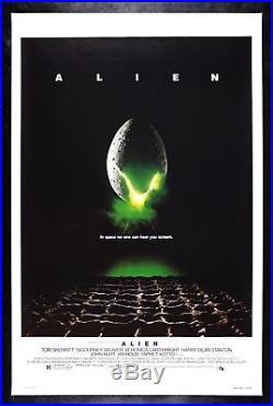 ALIEN CineMasterpieces VINTAGE ORIGINAL MOVIE POSTER ROLLED 1979