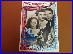 ALL ABOUT EVE Vintage c1950 Italian Photobusta MOVIE POSTER Bette Davis Film