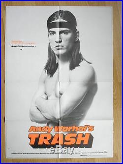 ANDY WARHOL's THRASH rare German 1sheet poster! JOE DALLESANDRO 1971 Factory