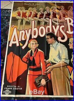 ANYBODY'S BLONDE 6 SH ORIGINAL VINTAGE MOVIE POSTER CHORUS GIRLS 1931 81x81