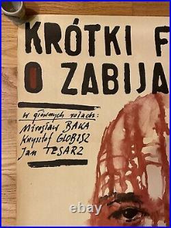 A Short Film About Killing ORIGINAL 1988 Polish Movie Poster K. Kieslowski -Orig