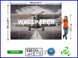 Airplane Photo Wallpaper Wall Mural WALL DECOR Giant Paper Poster Picture Image