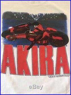 Akira Vintage Shirt Kaneda 1988 1998 Neo Tokyo Movie Poster Size Xl