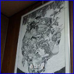 Akira original picture poster B2 size Katsuhiro Otomo vintage anime goods rare