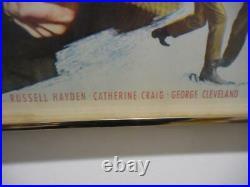 Albuquerque Vintage Movie Poster Hand Signed Autographed Randolph Scott 1948