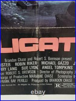 Alligator 1980 Original Vintage One Sheet Movie Poster