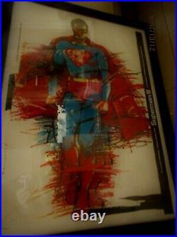 Amazing Vintage Giant Superman III Christofer Reeve Polish Framed Art Poster