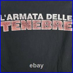 Army Of Darkness T Shirt Vintage 2002 1992 Italian Movie Poster Promo Size Large