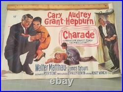 Audrey Hepburn Vintage Origina Movie Poster CHARADE Cary Grant Matthau-Brussels