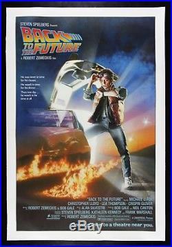 BACK TO THE FUTURE CineMasterpieces 1984 VINTAGE ADVANCE ORIGINAL MOVIE POSTER