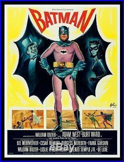 BATMAN CineMasterpieces 1966 FRANCE FRENCH 1P VINTAGE ORIGINAL MOVIE POSTER