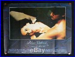 BLUE VELVET (1986) Vintage UK Quad Movie Poster DAVID LYNCH Twin Peaks