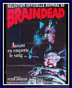 BRAINDEAD Horror 4x6 ft Vintage French Grande Movie Poster Original 1993