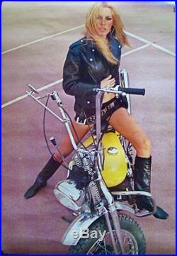 BRIGITTE BARDOT Vintage 1969 Personality poster 29x42 HARLEY-DAVIDSON