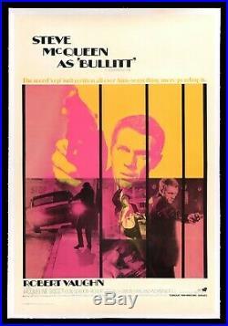 BULLITT CineMasterpieces VINTAGE ORIGINAL MOVIE POSTER COOL STEVE MCQUEEN 1969