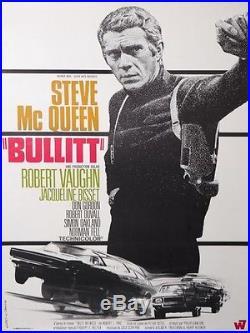 BULLITT STEVE McQUEEN ROBERT VAUGHN VINTAGE MOVIE POSTER BY LANDI 1969