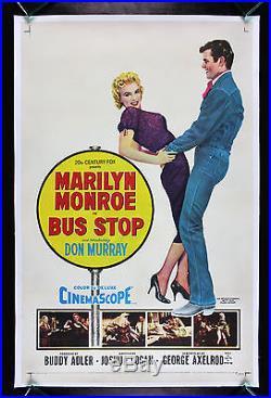 BUS STOP CineMasterpieces ORIGINAL VINTAGE MARILYN MONROE MOVIE POSTER 1956