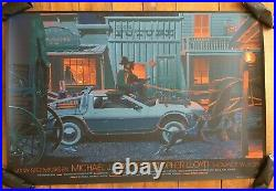 Back To The Future 3 Movie Poster Variant Art Laurent Durieux Mondo Marty Mcfly
