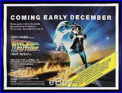 Back To The Future Original Vintage Advance Uk Quad Movie Poster 1984
