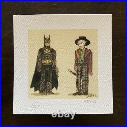 Batman And Joker 1989 Movie Art Print Movie Poster mondo DCEU DC Comics Sdcc vtg