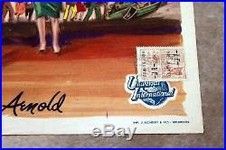 Belgian Movie Poster TARANTULA original vintage trimmed at top with stamps folds